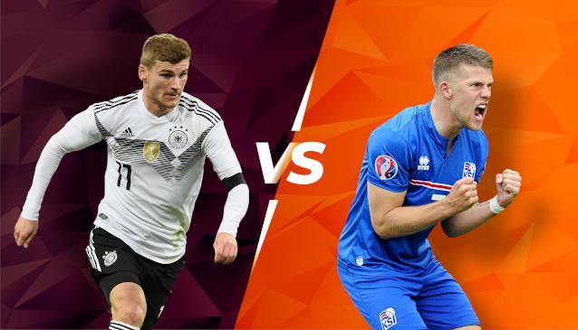 Германия срещу Исландия