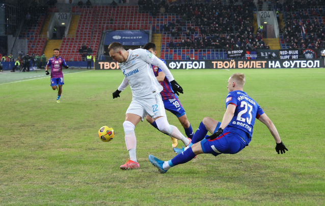 Зенит срещу ЦСКА Москва