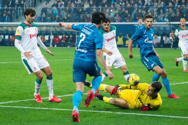 Зенит срещу Локомотив Москва