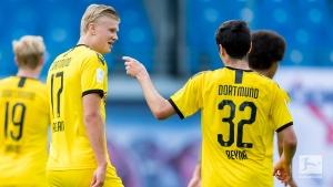 Halland helps Dortmund secure second place